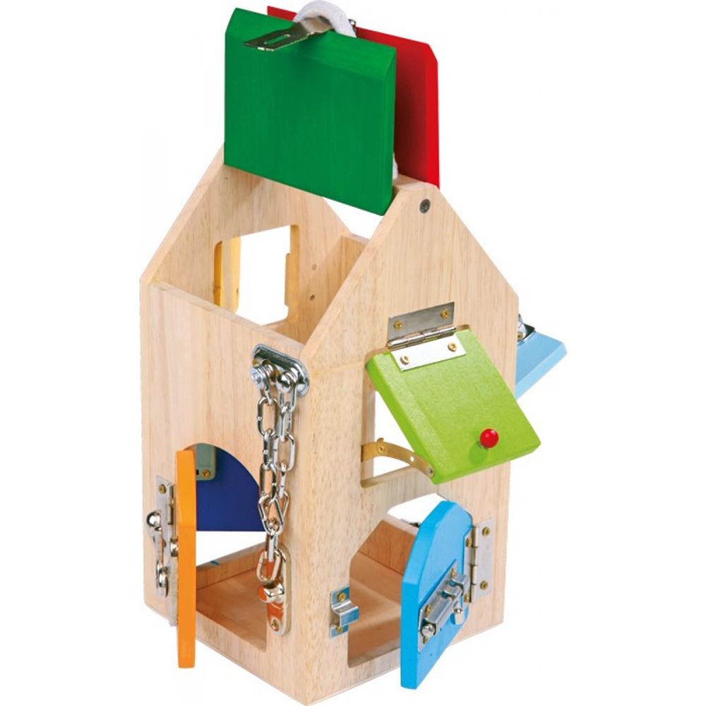 Casa De Cerraduras Montessori Estimula Motricidad Seleccion Wanatoy